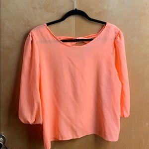 Neon orange top